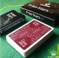 Wholesale have colors can choose wine red and black plastic playing cards poker stars hot selling