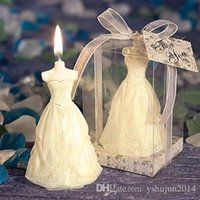 Wholesale 2015 New Romantic Wedding Bride and Groom Candle Wedding table centerpiece party Decorations Supplies Wedding Party Favors Novelty Gifts