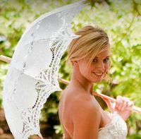 Wholesale Vintage Ivory Bridal Accessories Diameter cm Wedding Parasols Lace Cutout Princess Bridal Umbrella