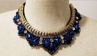 big metal jewellery - Jewelry collar popular bohemian fashion vintage metal pendent necklace crystal jewellery jewerly women necklace big necklace