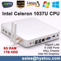 aluminium htpc - G RAM TB HDD Fanless Mini Destop PC Computer HTPC Intel Celeron U Dual Core Ultra Thin Aluminium PC HDMI P computador