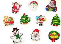 badge products - Christmas flash brooch Santa Claus decoration products Shine brooch badge via EMS