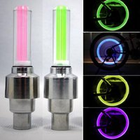 Wholesale LED Motorcycle Cycling Bike Bicycle Wheel Tire Valve Flashing Light Car Lamp Good Quality Brand New