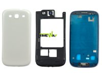 Wholesale Free DHL EMS Replacement Parts Full Housing Case Cover For Samsung Galaxy S3 i9300 i9305 t999 i535 i939 middle frame back cover