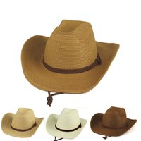 Wholesale Straw Cowboy Hat for Man New Bone Boiadeiro Unisex Party Hat Summer Style Western Hats Chapeu Masculino Cowboy MX0268