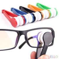 Mini Limpiador de lentes de los vidrios Gafas de sol Gafas Equipo microfibra lente lindo portátil mayor-1pc Cepillo Limpie vasos limpios