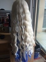 beach hairstyles - full light blonde blue underneath beach wave wigs with natural parting glueless synthetic lace front wig heat resistant