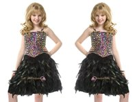 Cheap New Style 2015 Pre Teen Girl's Pageant Dresses Spaghetti Straps Wedding Dress Feather Dress
