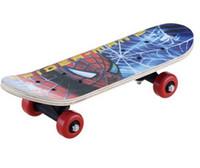 Wholesale new children s wood plastic skateboard cartoon spiderman design board boy girl s gift