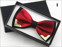 Wholesale 22 Colors Hot Solid Silk Bow Tie Mens Butterfly Cravat Bowtie Male Solid Color Marriage Bow Ties With Nice Box For Men