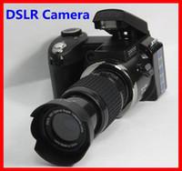 Wholesale Hot sale popular fashion D3000 MP HD DSLR Camera w x Telephoto Wide Angle Lens cheap Camera