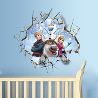 Wholesale 2015 D Frozen Wall Stickers Wall Sticker Removable And Waterproof Background Wall Stickers Wallpaper For Kindergarten Kids Room