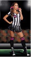 cheerleading uniforms - Glee Santana referee cheerleader costume lala Jerseys school uniform sexy sports meeting apparel footballbaby clothing cheerleading costume