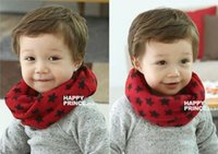 Scarf baby neck ring - baby Kids children Star Winter Smile Knitting Woolen Baby Kids Infinity Scarf Circle Neck Collar Loop Shawl