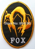 Wholesale Metal Gear Solid Foxhound Fox Hound Fox Golden Embroidered IRON ON SEW ON Cool Biker Vest Patch Military Badge
