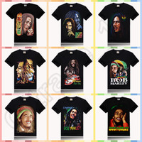 Wholesale 10PCS HHA597 BOB MARLEY print new style round neck t shirt rock sir style promotion price design