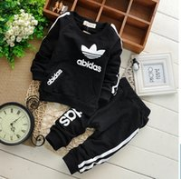 brand clothes kids - Fashion Spring Kids Sport Suit cotton foreign trade brand children s suit Children s clothing fashionable three leaf grass