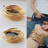 Wholesale Alex Ani bangles set golden plated multi layers alex ani braceles fashion brief for one set new bulk