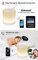 Wholesale APP remot control bluetooth smart RGB light led lamp with speaker bedside lamps For IOS Android induction Touch lamp interior and outdoor