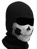 Wholesale 9 balaclava ghost full face mask skull mask CS Game fitted hat men women raiders fleece beanie winter