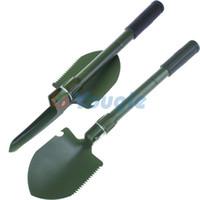 Wholesale One piece Mini Multi function Folding Shovel Survival Trowel Dibble Pick Camping Outdoor Garden Tool