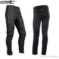 Wholesale SANTIC Cycling Fleece Thermal Wind Pants Winter Pants Tights James Mens Sports Trousers Plus Size Track Padded Windproof Pants