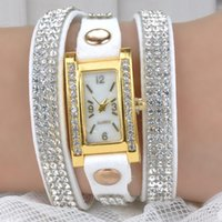 ad glass - New Hot AD Brand Women Ladies fashion casual watch Gift PU Leather Silicone Bracelet Wrist Watch M MHM560 S1