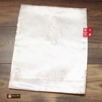 antique textiles - M Textile Fabric Crafts Tibetan Buddhist Eight Auspicious Symbols of Buddhism White Hada Khatas cm cm Tibet embroidery Handicraft