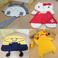 anti mite - Large Cartoon Totoro Sleeping Bed Bag Holster Pikachu Kitty Cushion Cover Despicable Me Minion Sleeping Bed Mattress Cover