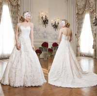 Wholesale Sweetheart Strapless Lace Appliques Ribbon Justin Alexander Newest Bridal Gowns Tea Length Fashion Beach Wedding Dresses