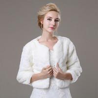 Wholesale Hot Selling Women Bride Bolero Faux Fur Cashmere Shawls Shrug Jacket Coat Bridal Jacket For Wedding Bridal Accessory