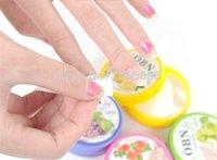 Wholesale 1000sets Fruit Flavor Wet Wipes Paper Towel Nail Art Polish Vanish Remover Pads