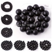 agate jewellery - mm Frosted Round Shape Black Agate Onyx Loose Beads Strand quot Jewellery Making wj55
