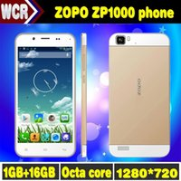 Cheap Original ZOPO ZP1000 Octa Core MTK6592 1GB RAM 16GB ROM 14MP Camera Mobile Phone 1280*720 Android Dual SIM Smartphone Cell Phone