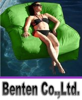 Wholesale Sun Lounger Wholesale - sky blue SUN LOUNGER BED OUTDOOR LOUNGER BEAN BAG BEANBAG CHAIR Stylish Waterproof blue, float on water, relax on land, 2 in 1 function LLFA