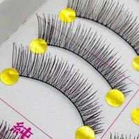 Wholesale 10 Pairs Box Natural Long Style False Eyelashes Long Magnificent Crisscross False Eye Lash Eyelashes Hand made