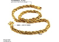 18k gold chain necklace - 18K Real Gold Plated Necklace Men Jewelry New Trendy Chunky Snake Chain Necklace cm g