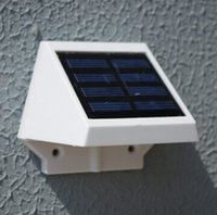 Wholesale IP55 LEDs High Bright high lumen outdoor solar garden light light operated Solar led wall lamp warm white cold white solar lawn lamp