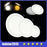 Wholesale 10PCS DHL High Power Led Panel Light SMD W W W W W W LM V Led Ceiling Bulb Lamp Spotlight Downlight