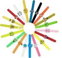 Wholesale 10pcs Hot DIY Kids Children Silicone removable watch Fashion different styles sport cool quartz on cartoon slap watch