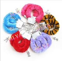 adult valentines gifts - Sexy Soft Furry Steel Fuzzy Fur Wrist Handcuffs Dress Valentines love Gift Toy Adult Games Sex products Sex Toys for couple