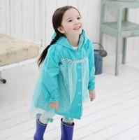 Girl baby rain jackets - New Baby Girls Frozen Elsa Anna Princess Hooded Coat Autumn Kids Tutu Outwear With Top Hoodies Children rain coat Clothes LY