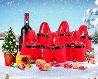 christmas bag - New Hot Fall Winter Santa Pants Style Christmas Candy Gift Bag Xmas Bag Gift BO6971