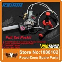 Wholesale KEIHIN mm PZ30 cc cc Carburetor Accelerating Pump Visiable Twister Dual Cable Pro Taper Grips IRBIS