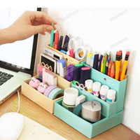 Cheap [High Quality][Brand New] DIY Paper Board Storage Box Desk Decor Organizer Stationery MakeUp Cosmetic 02 Hot