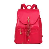 Wholesale 2015 new leather handbag fashion handbag shoulder tassel simple multicolor optional Backpack