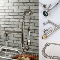 brushed nickel - Contemporary High Pressure Brushed Nickel Kitchen Faucet