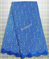 cotton lace fabric - 2015 design latest cotton African swiss lace fabric wedding lace high quality yards royal blue Silver