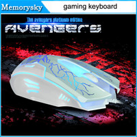 Wholesale 2016 New Limited edition mouse habergeons machinery gaming keyboard teethteats wired keyboard backlight cf by DHL