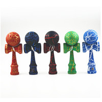 Wholesale 18 cm Fully Crack Paint Kendama Ball Skillful Jling Game Ball Japanese Traditional Toy Balls Educational Toys For Childre